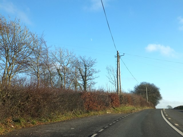 Lay-by on B3227 near Little Oak Farm
