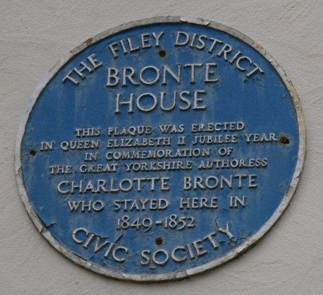 Photo of Charlotte Brontë blue plaque