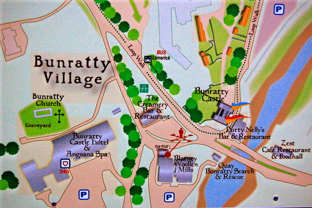 Bunratty - Village Area portion of Directory
