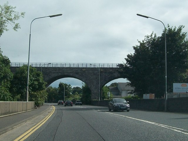 The railway viaduct at Navan
