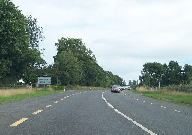 The R147 ten kilometres north of Dunshaughlin