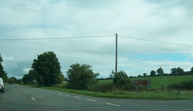 The Hill of Tara turn-off on the R147