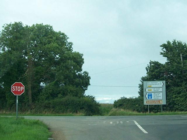 The Hill of Tara Road at Roschoill at its junction with the R147