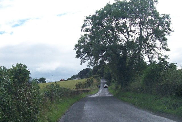 View south-westwards along minor road linking the R147 with the Hill of Tara