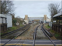 TR1458 : Canterbury West station seen from St Dunstan's Street by Marathon