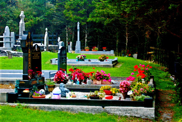 Bunratty Church Graveyard - New Burial Sites at East End