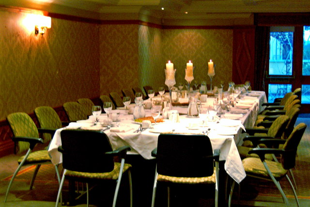 Bunratty Castle Hotel - Table Setting for Wedding Reception Dinner
