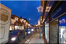 TF0920 : Christmas lights, West Street by Bob Harvey