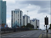 SK3487 : Netherthorpe Tower Blocks, viewed from Upper Hanover Street, Sheffield by Terry Robinson