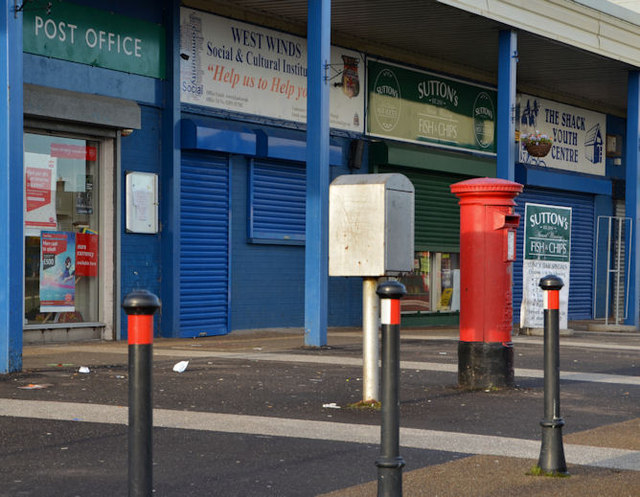 Pillar box and drop box, West Winds, Newtownards