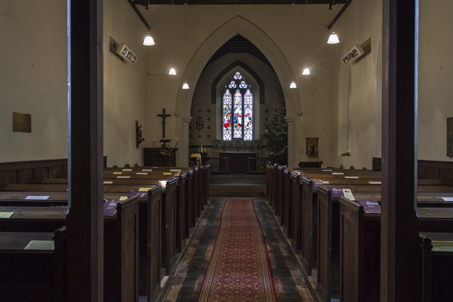 Interior, St Martin's church, Stubton