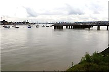 TQ3979 : Jetty on the River Thames by Steve Daniels