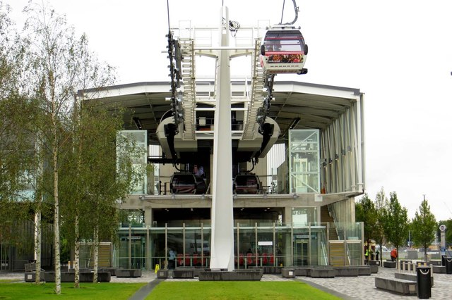 The Emirates cable car terminal
