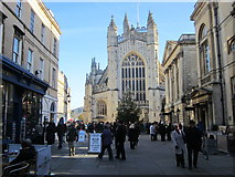 ST7564 : Bath Abbey and Christmas Market by Roy Hughes
