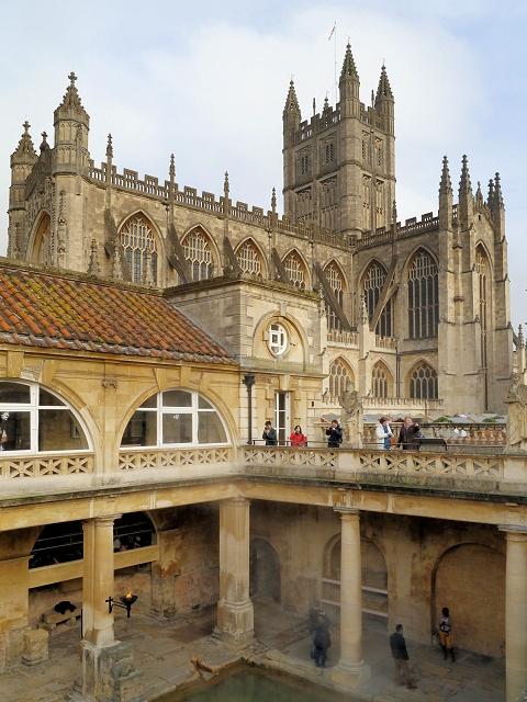 Bath Abbey viewed from The Roman Baths