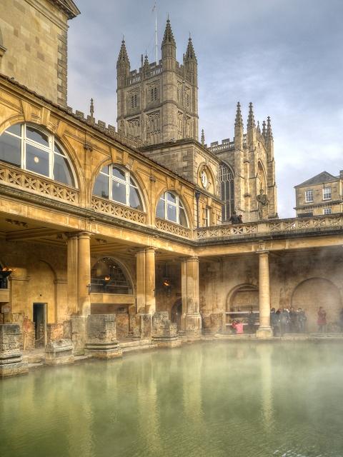 The Great Bath and Bath Abbey