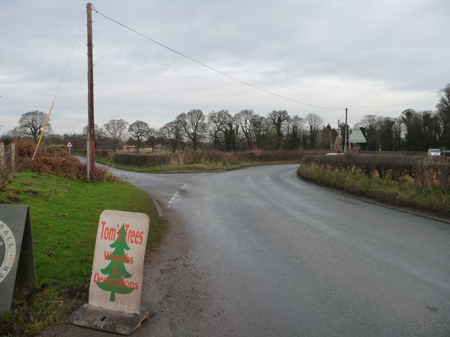 Junction of Chance Hall Lane and Brook Lane
