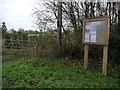 SJ8360 : Astbury Parish Council noticeboard by Christine Johnstone