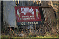 TA0930 : Old advertisement board for Millie's Ice Cream by Ian S