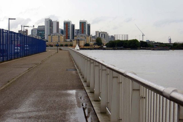 The Thames Path by the O2 Arena
