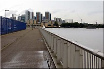TQ3980 : The Thames Path by the O2 Arena by Steve Daniels