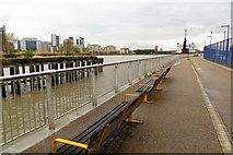 TQ3880 : The Thames Path by Blackwall Reach by Steve Daniels