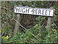 TL3362 : High Street sign by Geographer
