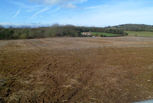 Bare field near Llanvaches