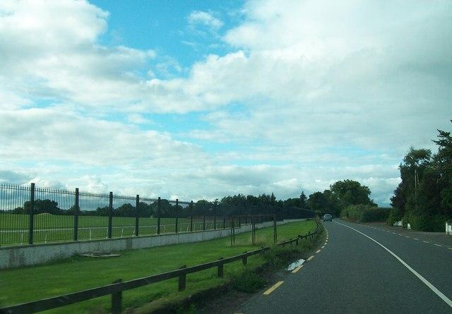 Boundary fence at Navan Race Course
