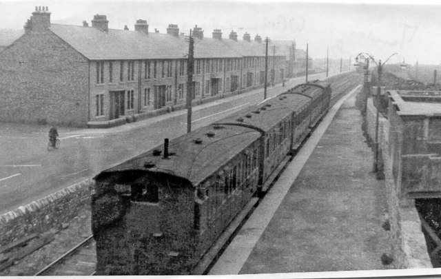 Marsden station, South Shields, Marsden & Whitburn Colliery Railway, 1953
