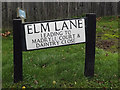 TL2862 : Elm Lane sign by Adrian Cable