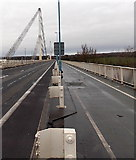 ST5491 : Wye Bridge footpath and cycleway, Beachley by Jaggery