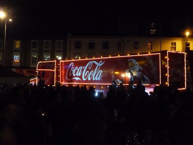 Bournemouth: Coca-Cola truck in The Triangle