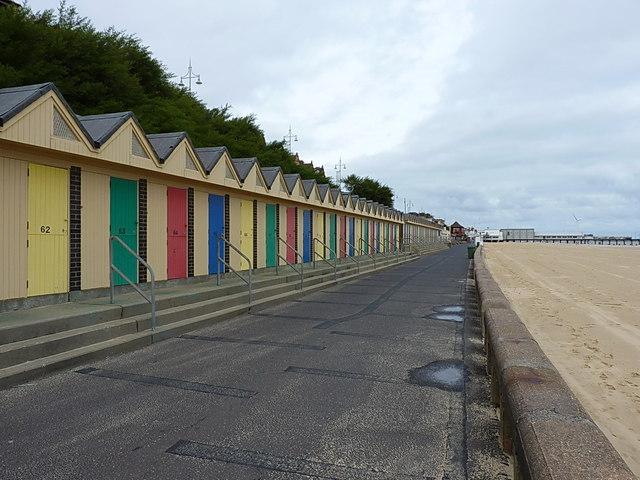 Beach huts, Lowestoft by Richard Law