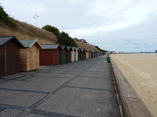 The other beach huts, Lowestoft by Richard Law