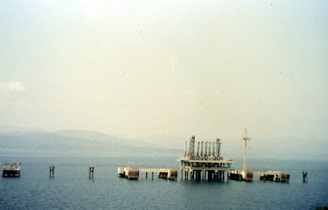 Construction of the Jetty at Gulf Oil's Whiddy Island terminal