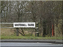 TL2460 : Whitehall Farm sign by Adrian Cable