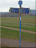 SS8983 : Millennium signpost, Sarn by eswales