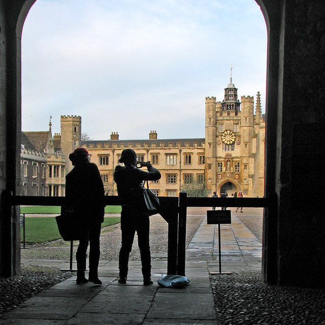 Tourists at Trinity