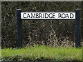TL2059 : Cambridge Road sign by Adrian Cable