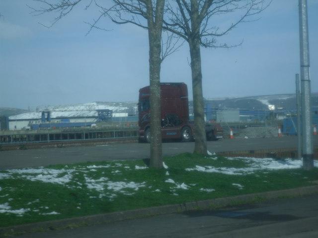 View out towards the former Stena Line port, Stranraer