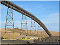 NY9174 : Conveyor at Barrasford Quarry by Mike Quinn