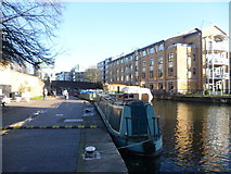 TQ3283 : Regent's Canal near City Road Basin by Marathon