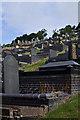 SN5981 : Llanbadarn Fawr cemetery by Ian Capper
