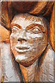 SO5615 : Tree sculpture, Symonds Yat by Philip Halling