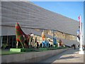 SJ3390 : Lambananas outside the Museum of Liverpool by Tricia Neal