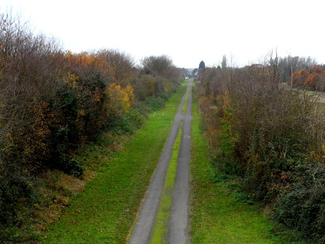 Bed of former railway line