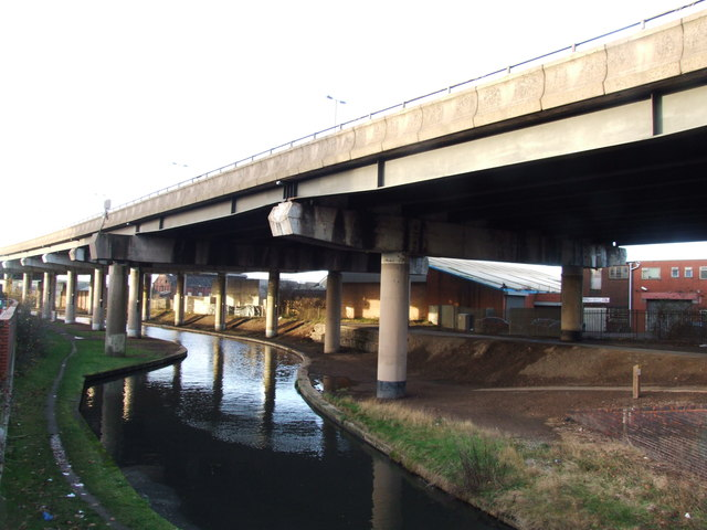 Birmingham Canal and M5 Flyover, West Bromwich