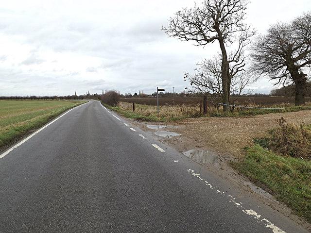 Eltisley Road & footpath
