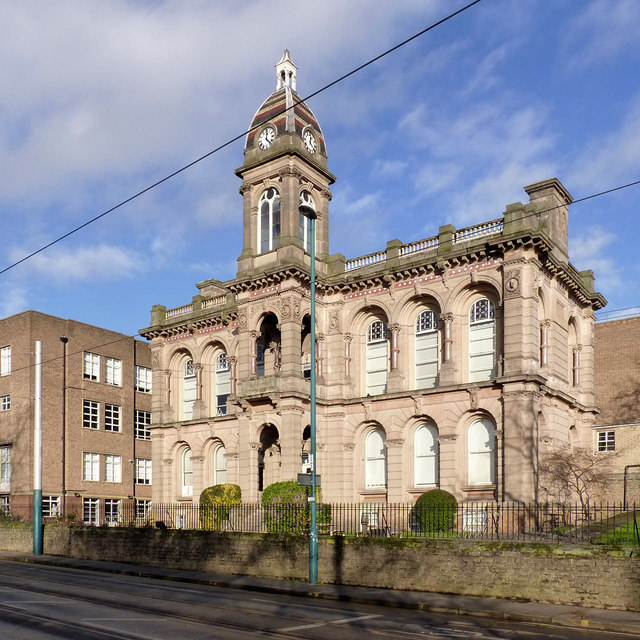 The former College of Art in Winter sunshine